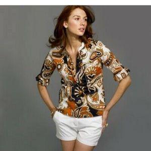 J Crew Alessia ruffle sleeve shirt - 6